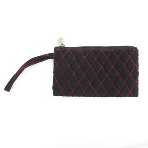 Vera Bradley Red/Black Quilted Fabric Wristlet
